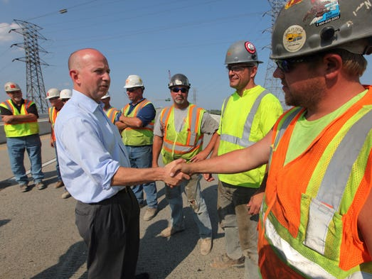 """""""Thank you for all your help"""" says Gov. Jack Markell as DelDot prepares to reopen the south bound lanes of I-495 on Thursday."""