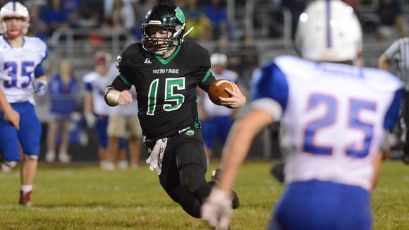 Mountain Heritage quarterback Trey Robinson was the 2015 Western Highlands Conference Offensive Player of the Year.