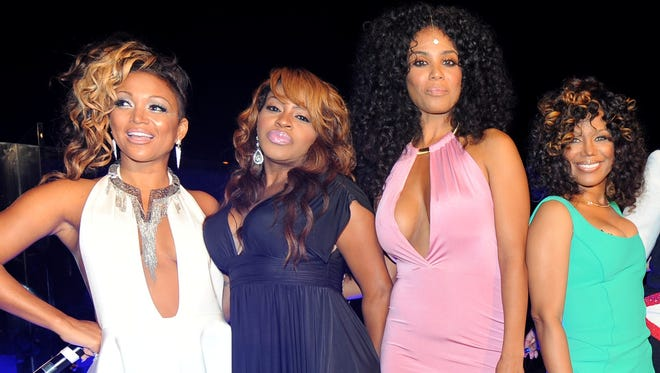 """R&B Divas: Los Angeles"" cast members: Chante Moore (from left), Lil' Mo, Claudette Ortiz and Michel'le. Getty Images"
