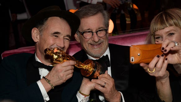 Mark Rylance and Steven Spielberg are not above selfies.