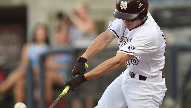 Mississippi State's Jake Mangum leads the team with a .414 batting average.