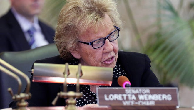 Committee vice-chair Senator Loretta Weinberg at the opening of the hearing that heard testimony from senior staff members of the Port Authority concerning the capital budget.