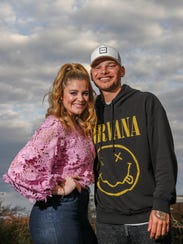 Lauren Alaina and Kane Brown pose for a portrait at