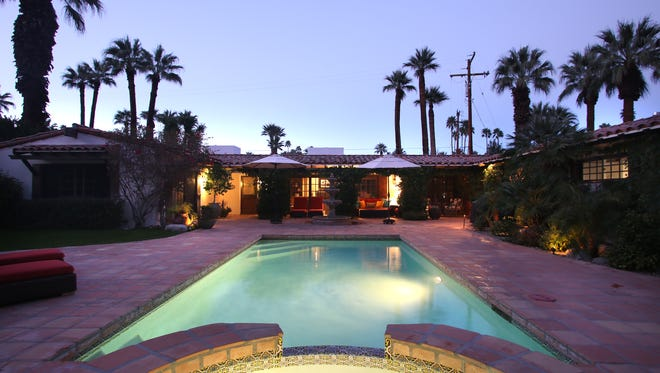 Casa Hermosa, a month long vacation rental property in Palm Springs, photographed in January 2014.