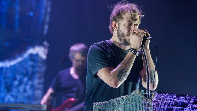 Justin Vernon performs with Volcano Choir at the Pabst Theater in Milwaukee in 2013.