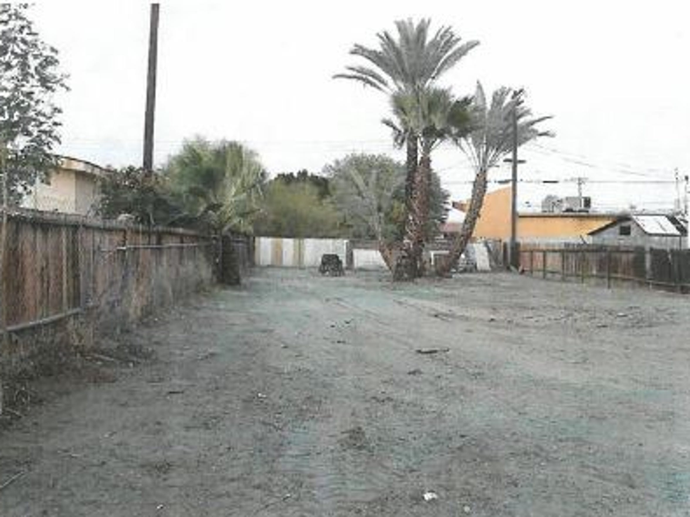 This is Marjorie Sansom's Seventh Street property, as it appeared after it was cleaned up by Coachella in 2015.