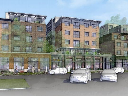 This rendering shows the Uncommon apartment complex