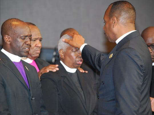Bishop Aletha Cushinberry during her consecration as