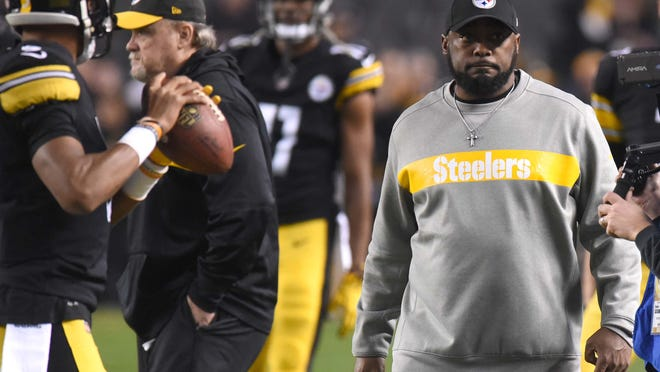 Dec 2, 2018; Pittsburgh, PA, USA; Pittsburgh Steelers head coach Mike Tomlin walks the sidelines before playing the San Diego Chargers at Heinz Field. Mandatory Credit: Philip G. Pavely-USA TODAY Sports