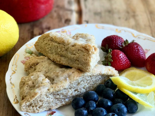 Moist Lemon Cream Scones have a delicate lemony aroma with a hint of almond.