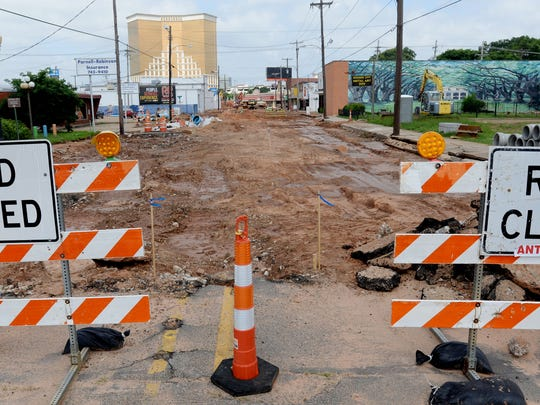 Barksdale Blvd. in downtown Bossier City is closed to be paved over again.
