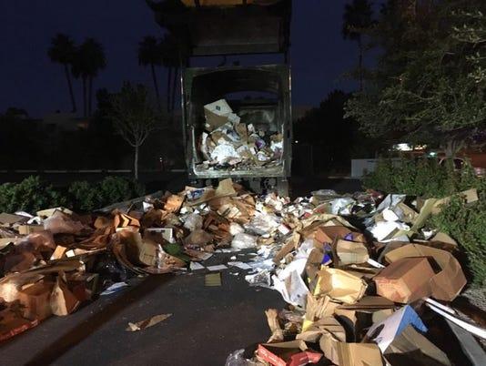 Man found inside garbage truck