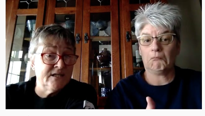 Retired educators Stacey Zavesky and Marcia Friesen have been churning out COVID-19 musical parodies for months.