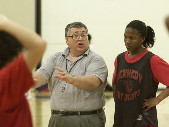 FILE: Kennedy High School girls basketball coach Lou