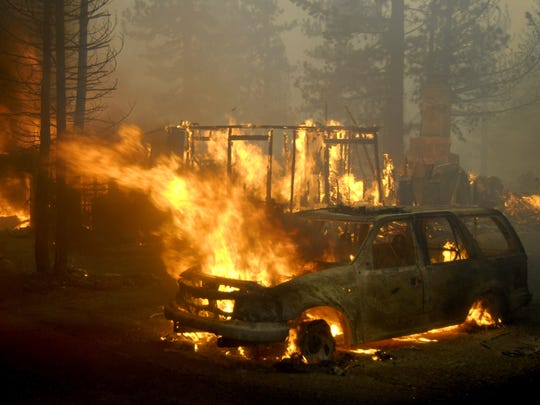 ANGORA FIRE: An abandoned campfire fanned into flame during a windy afternoon in June 2007 and exploded into Tahoe's most disastrous wildfire. The Angora Fire burned more than 3,000 acres outside South Lake Tahoe and destroyed more than 250 homes.