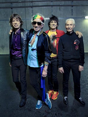 The Rolling Stones (from left, Mick Jagger, Keith Richards, Ronnie Wood and Charlie Watts) will perform on July 4 at Indianapolis Motor Speedway.