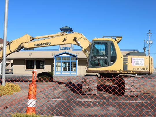 Travelodge, located at 1811 E. Perry Street, is being torn down to be replaced by Fairfield Inn.