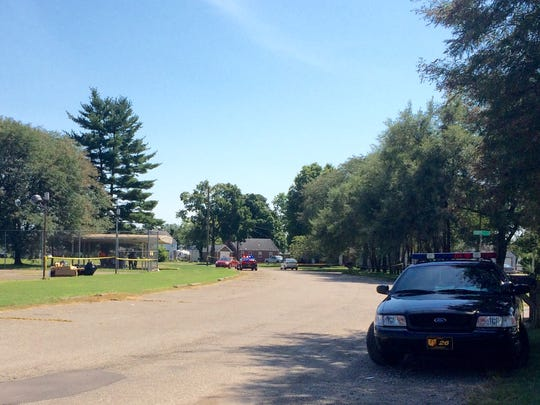 The Ross County Sheriff's Office was called to Reservation Circle on Monday afternoon on a report of a 17-year-old girl shot. Much of the road was taped off and people were gathered in the shelter house while officials investigated the incident.
