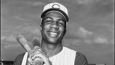 Frank Robinson played in Cincinnati from 1956 to 1965. He was inducted into the Reds Hall of Fame in 1978.