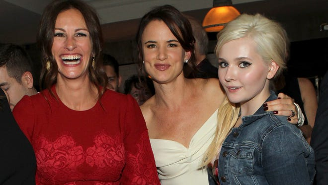 Julia Roberts, left, Juliette Lewis and Abigail Breslin were in Toronto for 'August: Osage  County' on Sept. 9.