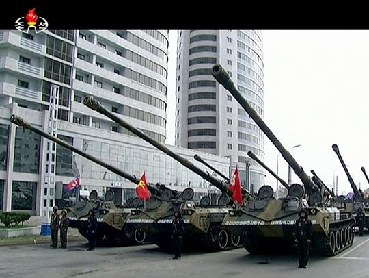 In this image made from video broadcast by North Korean