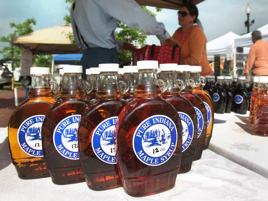 Get your fill of Indiana maple syrup April 22-24 at the Wakarusa Maple Syrup Festival in Wakarusa.