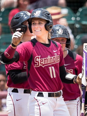 Alex Powers and the Florida State softball team face UCLA at noon Saturday in the Women's College World Series. Photo by Ross Obley.