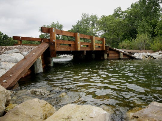 A new bridge was built to connect Bird Island to the mainland after opening a channel between Lake St. Clair and Ford Cove at the Edsel and Eleanor Ford House.