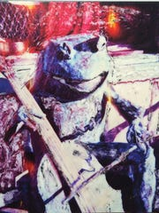 """""""Sonata Frog"""",20x20 inches, Polaroid  manipulation on LYVE canvas by Paul Wingler"""