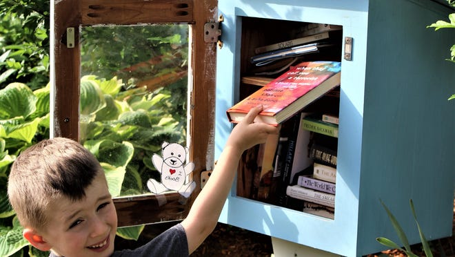 Vanessa Lillie's son adds a memoir by the founder of Black Lives Matter to a Free Little Library box in Providence.