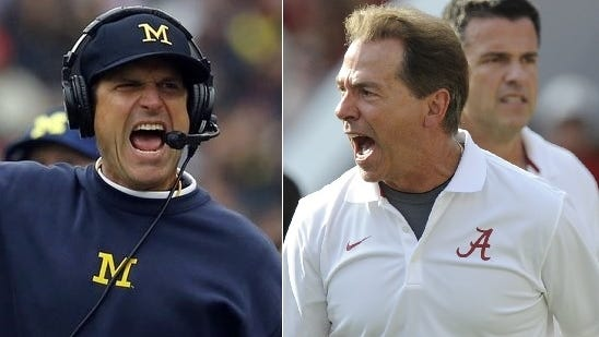 ESPN First Take's Skip Bayless and Stephen A. Smith debate who they would rather play for -- Jim Harbaugh or Nick Saban