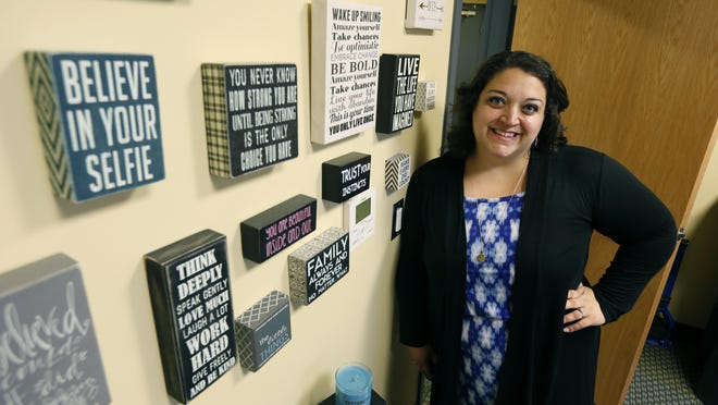 Mary Jo Marino, manager of education and outreach for Planned Parenthood, stands in the offices of the Bivona Child Advocacy Center.