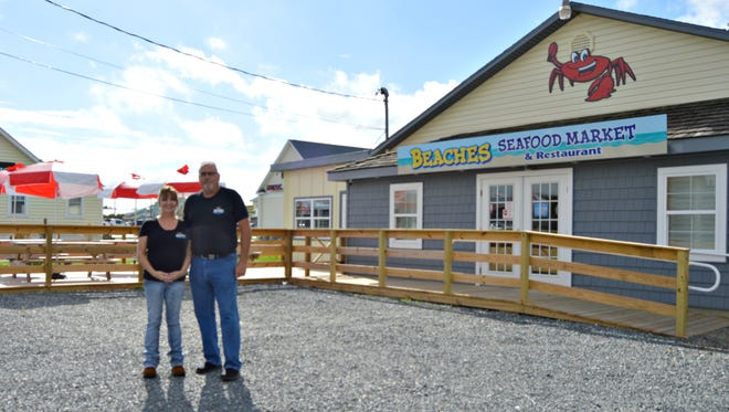 Don and Lori Allan, owners of Beaches Seafood Market.