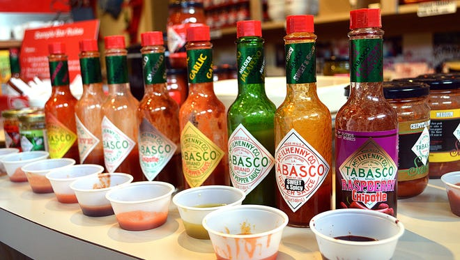 Free samples of Tabasco sauces as well as other Tabasco products are available at the Tabasco Country Store on Avery Island, Louisiana.