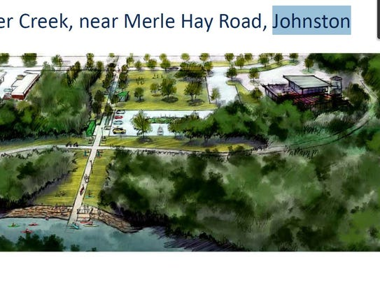 Sketch of prospective improvements to Beaver Creek