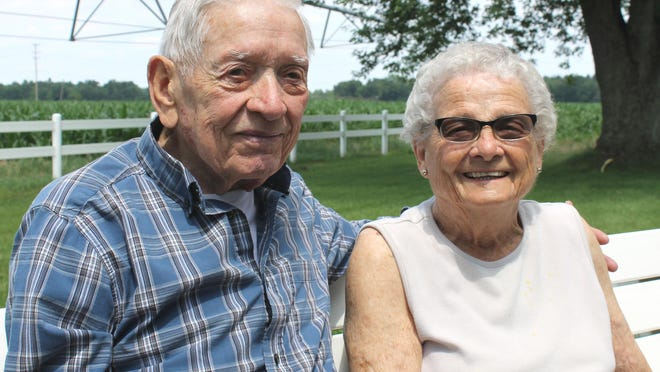 Dean and Jane Ann Brown of Bronson were together during much of his service in the Navy during the Korean War.