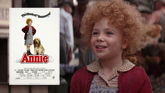 """Aileen Quinn stars as Annie in 1982's movie musical """"Annie,"""" screening Friday (Jan. 9) at The Palladium at The Center for the Performing Arts in Carmel."""