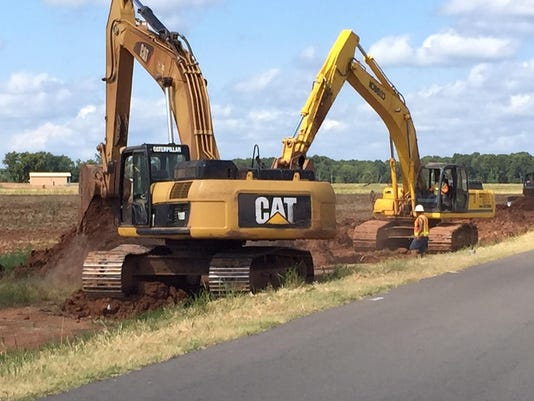 HEAVY EQUIPMENT ON CASH POINT RD.