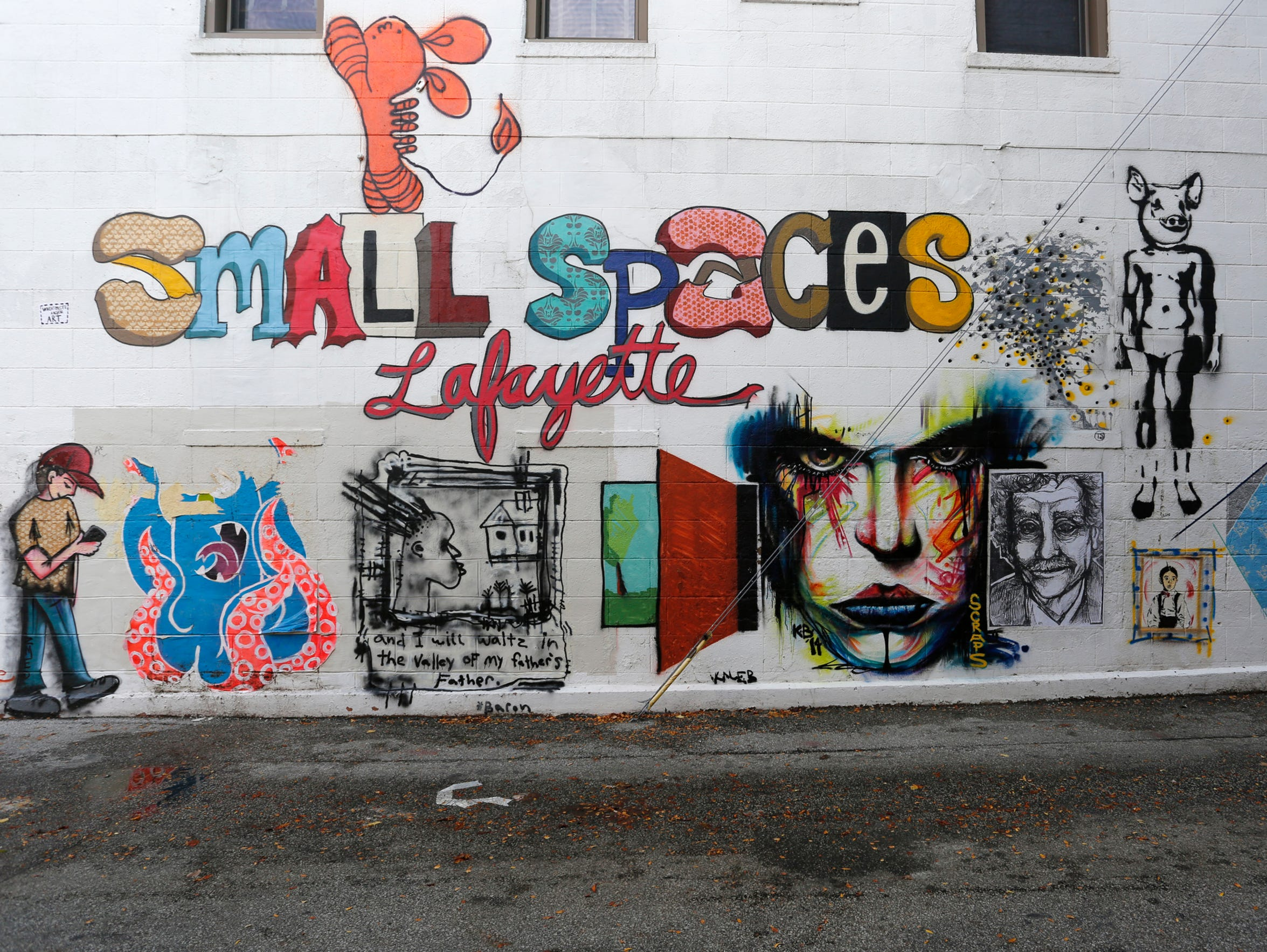 """The work of several artists taking part in """"small spaces:"""