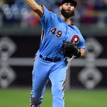 Arrieta Ks 10, allows 1 hit in 7 innings in Phillies win