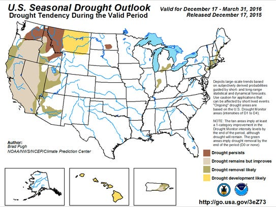The drought outlook for Western Oregon does not include
