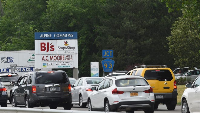 The Alpine Commons shopping center on Route 9 in Wappingers Falls on Friday.  BJ's Wholesale Club has proposed installing a gas station at their retail location in Alpine Commons.