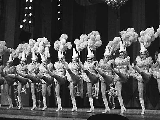 The chorus line for the Hello Hollywood Hello show at what was the MGM in 1978.