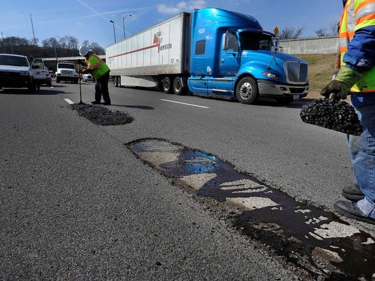 Hitting a pothole at interstate speeds can be damaging