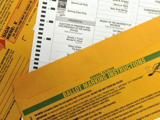 More than 1 million absentee ballots were requested by Michigan voters before the November 2016 presidential election, up significantly from 2012.