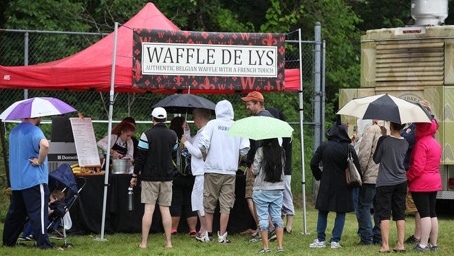 Thirty gourmet food trucks, beer and wine garden were on hand for the Just Jersey Food Truck and Music Festival.