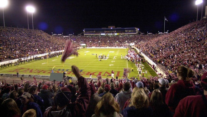 The Independence Bowl was a near sell out for the Missouri vs. Arkansas game in 2003.