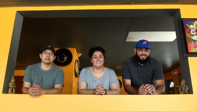 A new Mexican restaurant is coming to Rochester called My Cielo Taqueria. Co-owners Carmen Garcia, center, and Luis Garcia, right, are seen with business partner David Romero Marquez.