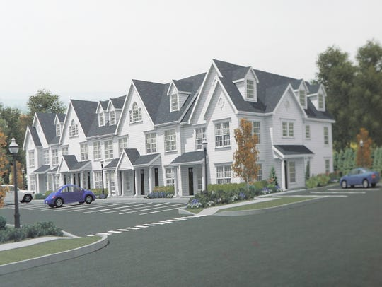 A rendering of a proposed project for affordable housing