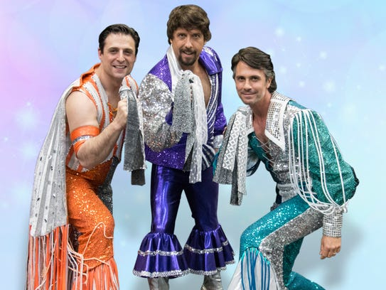 """Cast members playing the three dads in """"Mamma Mia!"""""""